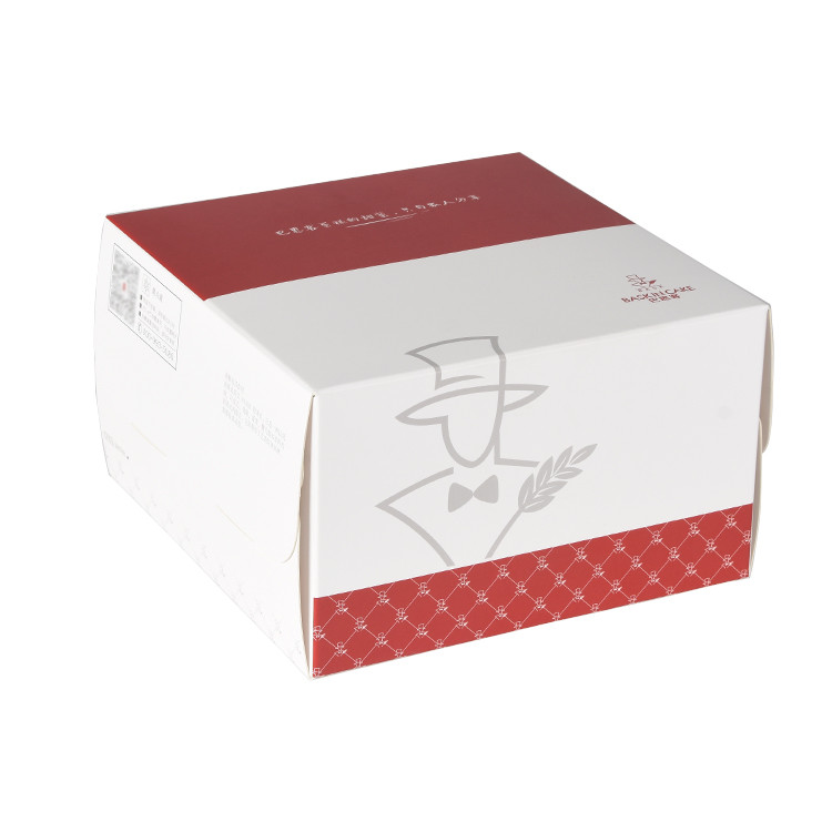 Custom Logo printed shopping paper box for food and loaf cake boxes