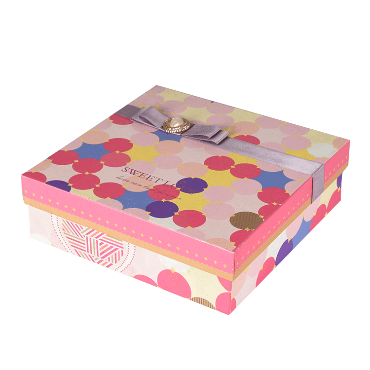 New Products Recyclable Pink Ribbon clothing Packaging Box with Lid