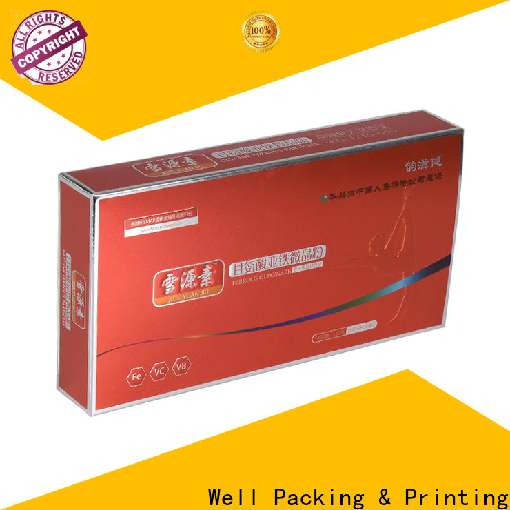 Well Packing & Printing packaging of pharmaceutical products customized design new arrival