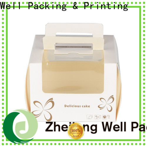 Well Packing & Printing attractive paper cake boxes wholesale fast delivery customization