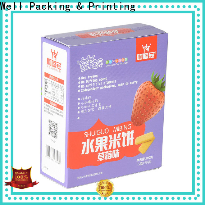 Well Packing & Printing food packaging containers high grade factory