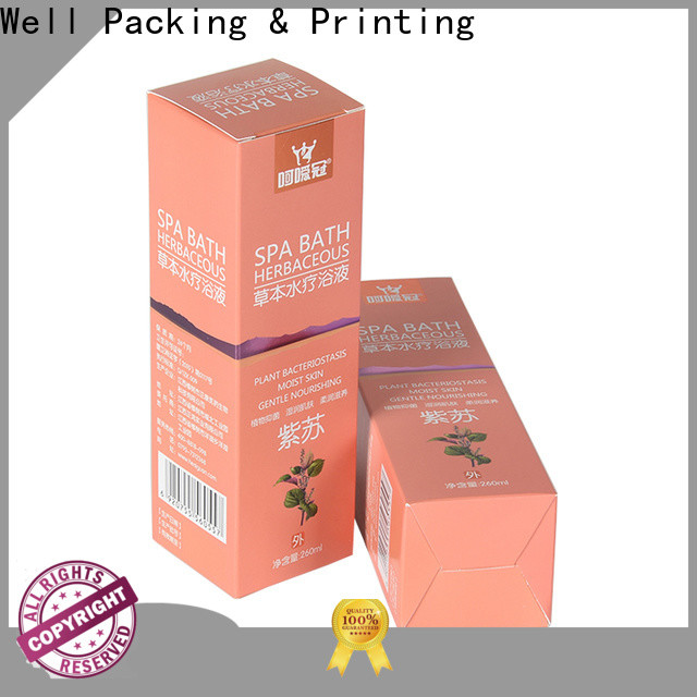 Well Packing & Printing high grade medical box customized design new arrival