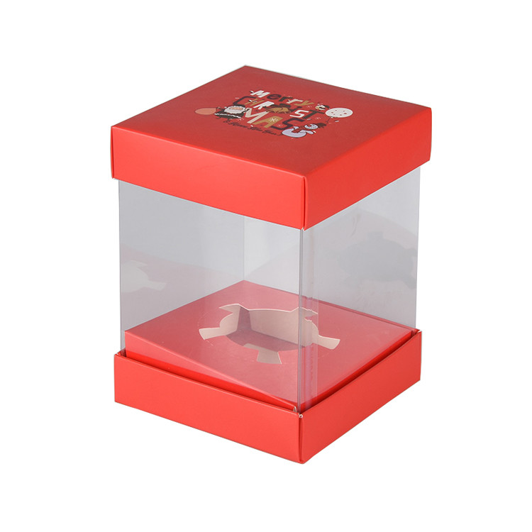 Promotional Food Grade Plastic Clear Decorative Wedding Cake Boxes