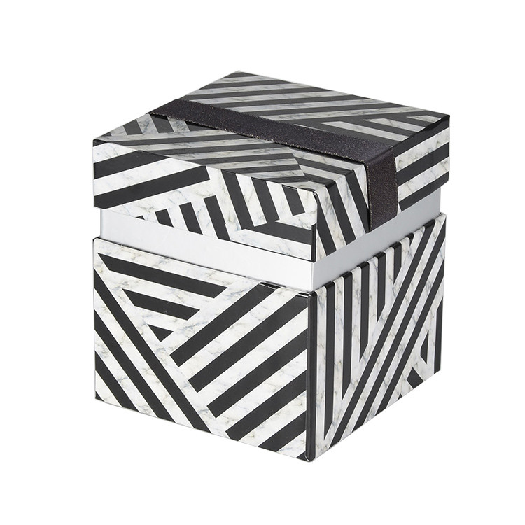 Fashion Design Custom Logo Gift Packing Zebra Pattern Big Size Paper Box