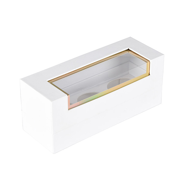 Custom White Hard Paper Rigid Paper Box for Cosmetics Case Cover Packaging
