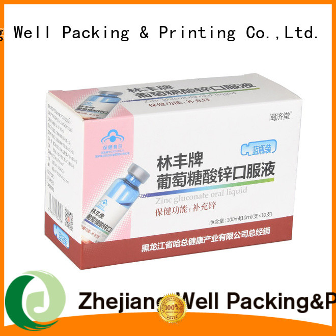 Well Packing & Printing medicine packaging box calcium tablets new arrival